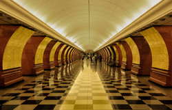 Moscow Metro station by Colin Pass - Sil