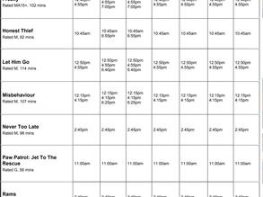 Perry Street Cinemas program Nov 26th to Dec 2nd