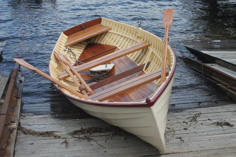 Skiff resting on the slip - pic Rosy Williams