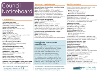 Council Noticeboard January 27th 2021