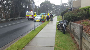 Motor cycle accident - Beach Road Batehaven