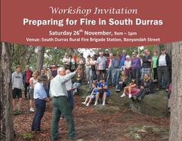 Preparing for Fire workshop