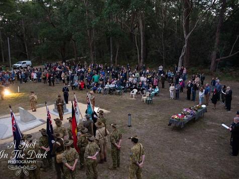 Moruya Dusk Service and new Memorial Stone