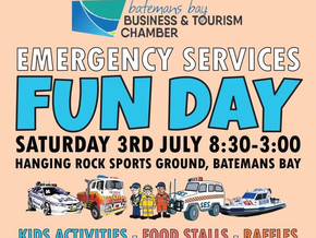 Community Gathers For The Inaugural Batemans Bay Emergency Services Fun Day - July 3rd