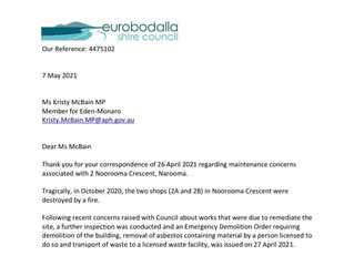 McBain steps in: Emergency Demolition Order finally issued for Narooma shops