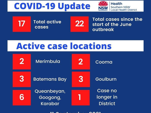 COVID-19 cases in Southern NSW