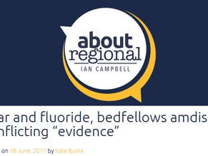 """Fear and fluoride, bedfellows amidst conflicting """"evidence"""""""