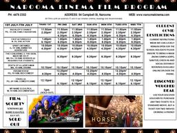 Narooma Kinema program Jul 1st to 7th