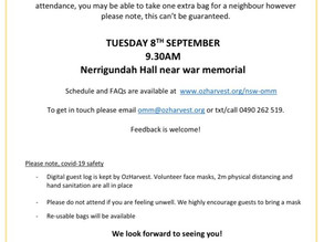 OzHarvest to visit Nerrigundah Tues September 8th