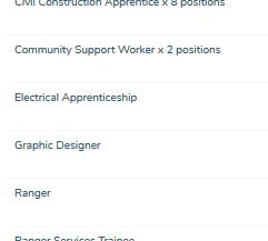 Council Job Vacancies as at Oct 4th, 2017