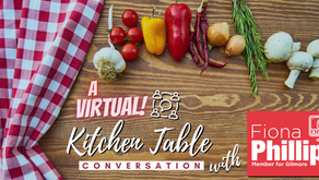 Join Fiona Phillips in Kitchen Table Conversations