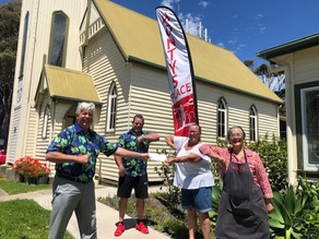 Monty's Place Receives A Donation From The Narooma Skins Golfing Group Champions