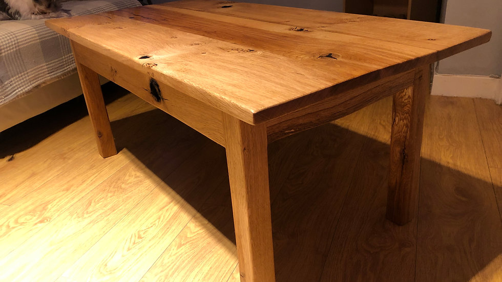 Hand made, Rustic, English Oak coffee table