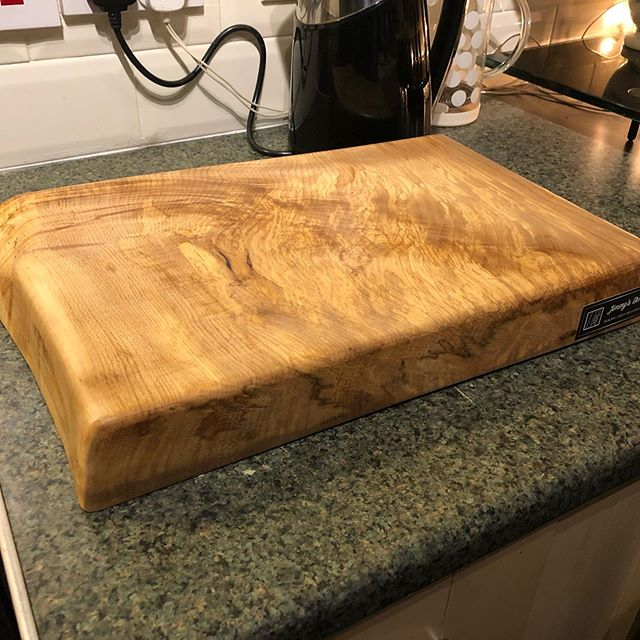 Solid sycamore chopping board commission