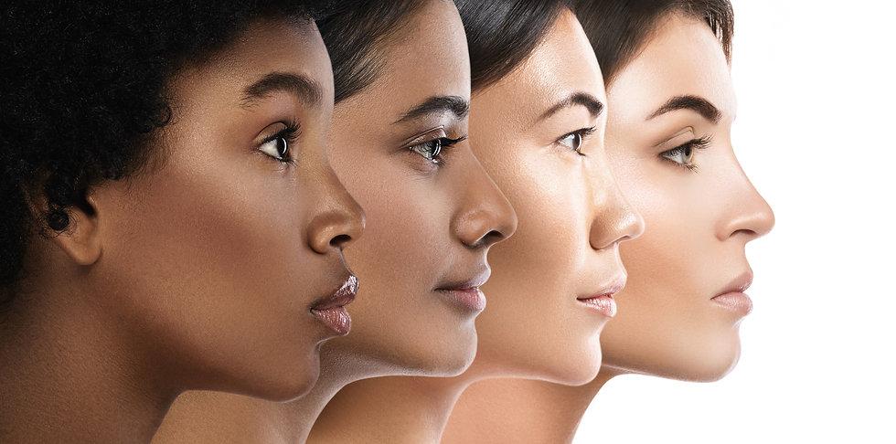Multi-ethnic beauty. Different ethnicity