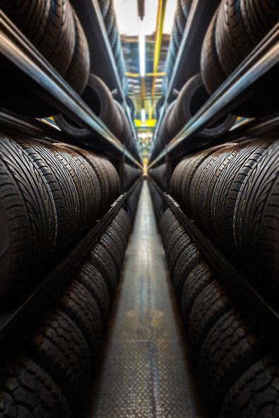 Car tires at warehouse.jpg