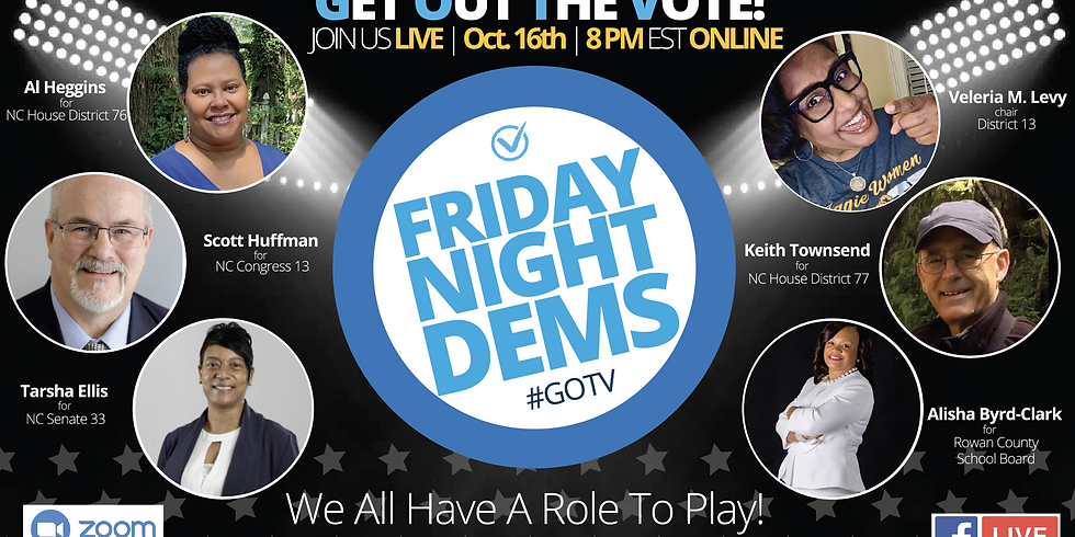 Join Us For Friday Night Dems! A FREE, Live, Online Candidate Forum