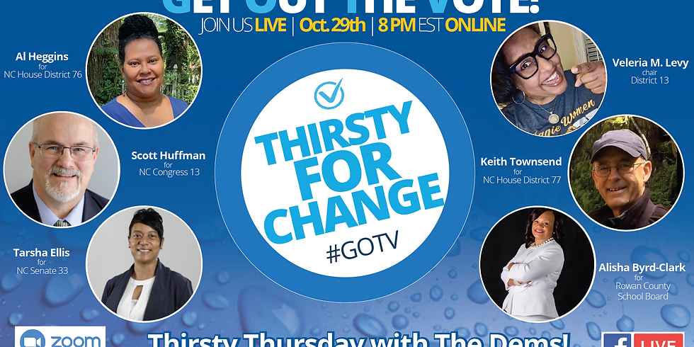 Join Us For Thirsty Thursday With The Dems! A FREE, Live, Online Candidate Forum