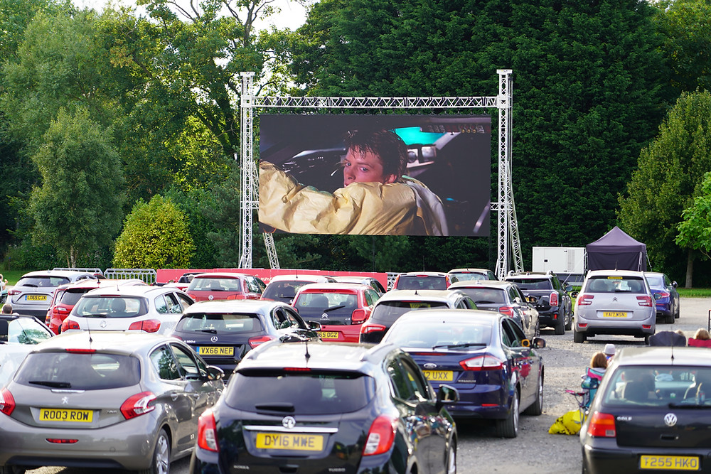 LED video screens for drive-in cinema hire