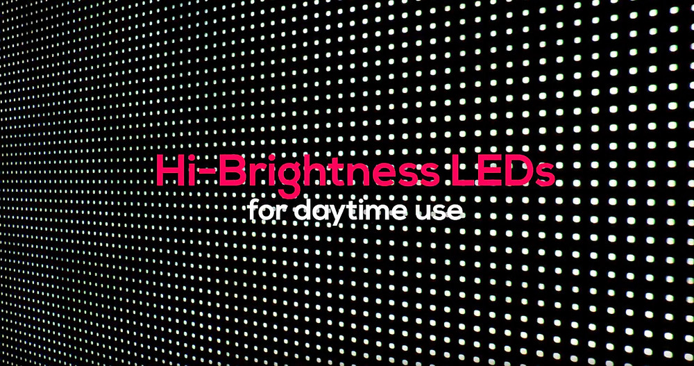 LED video screen pixels