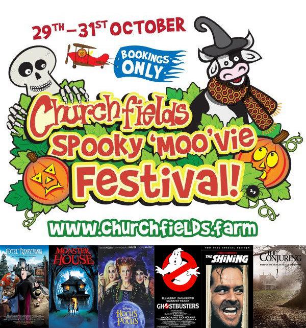 Churchfields halloween poster with films