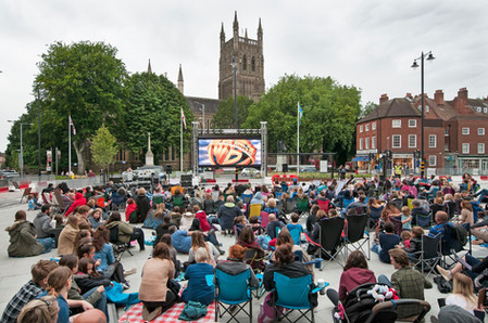 Outdoor Cinema Screen Worcester