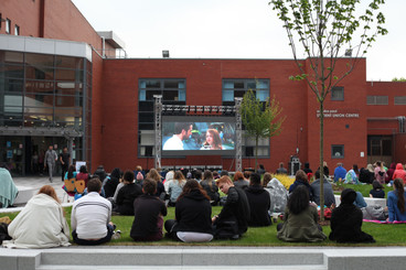 Cinema Screen Outdoors