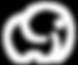 Logo icon white trasperant