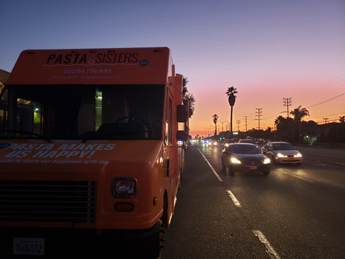 Pasta Sisters Food Truck sunset