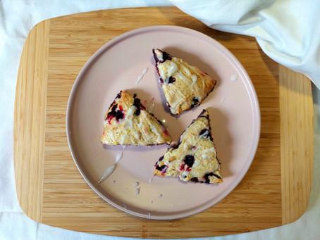 Blueberry + Lemon Scones (Gluten-Free and Vegan!)