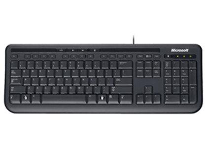 Microsoft Teclado Microsoft - Cable Conectividad - USB Interfaz - Negro - USB In