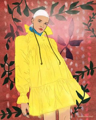 AVAVAV-Firenze-Yellow-Dress-Fashion-Illu