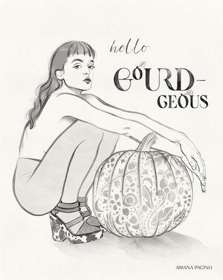 Hello Gourd-geous- Inktober-Fall Pumpkin