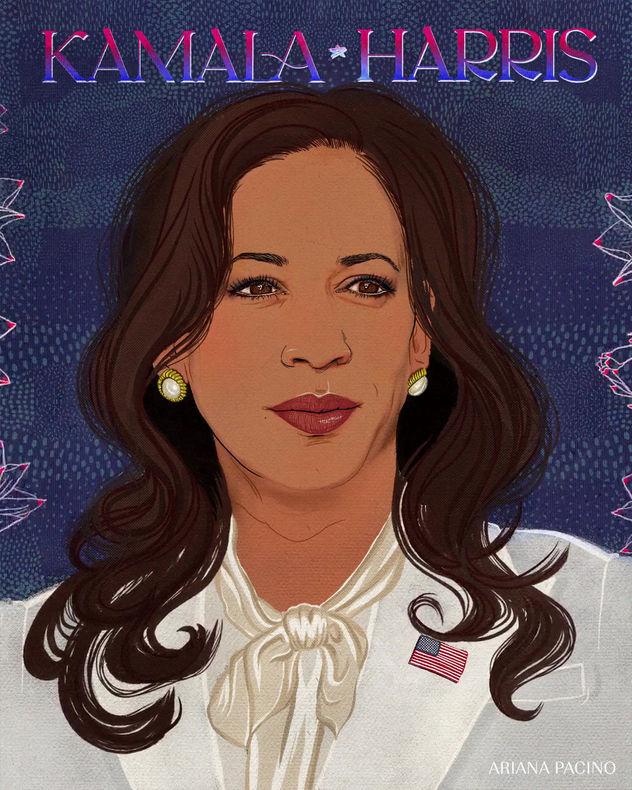 Kamala Harris-Editorial Illustration-Ani