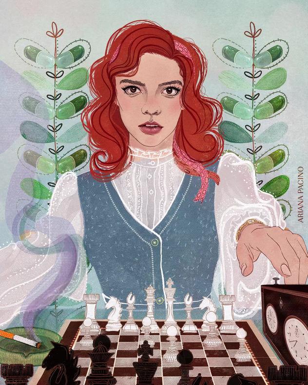 Beth Harmon Chess-Editorial-Illustration