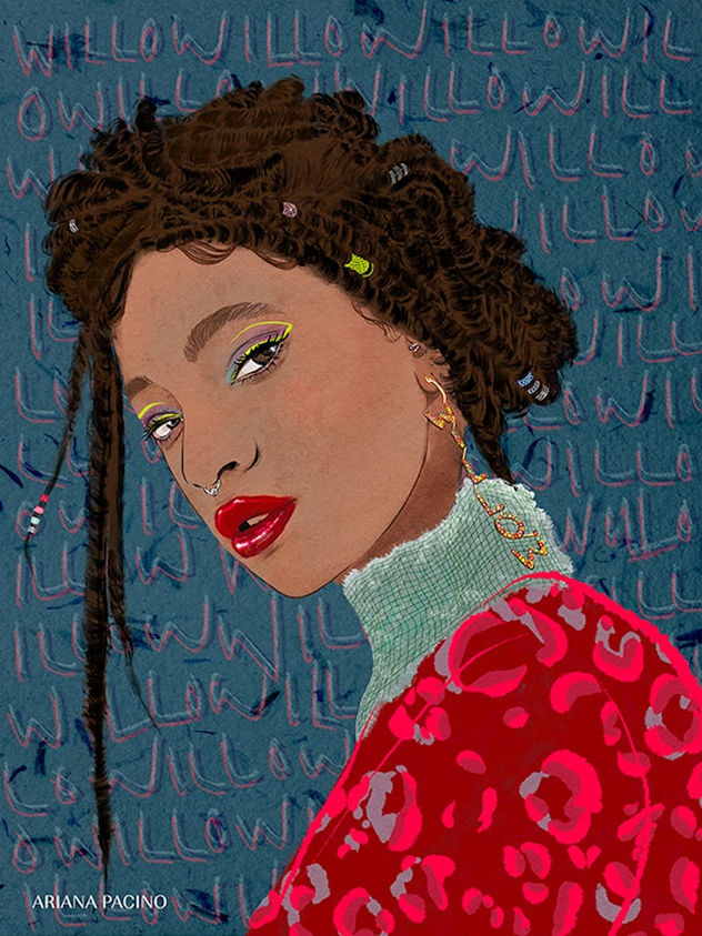Willow-Smith-Music-Illustration-Poster-A