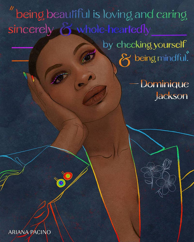Dominique Jackson Celebrity Illustration