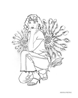 African-Daisy-Floral-Fashion-Illustratio