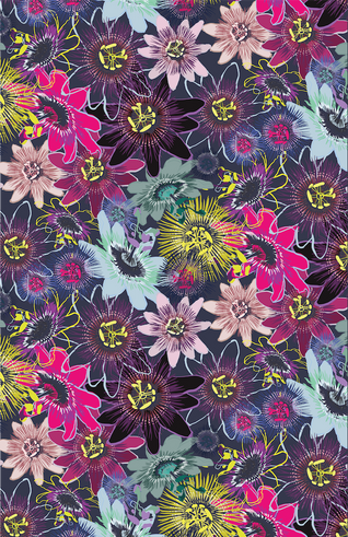 Passion Flower Pattern Design