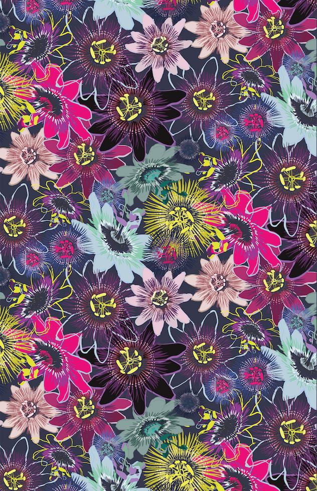 Passion Flower Pattern Design