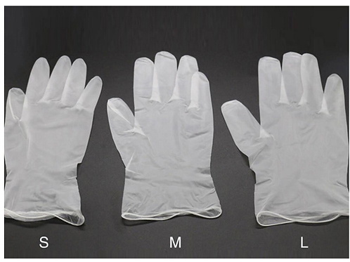 Power-free vinyl gloves