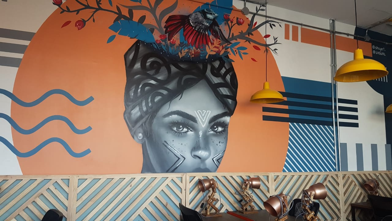 Mural Club Coworking Selina Cartagena