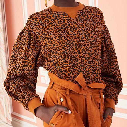 ULLA JOHNSON PF200721 Lula Pullover leopard