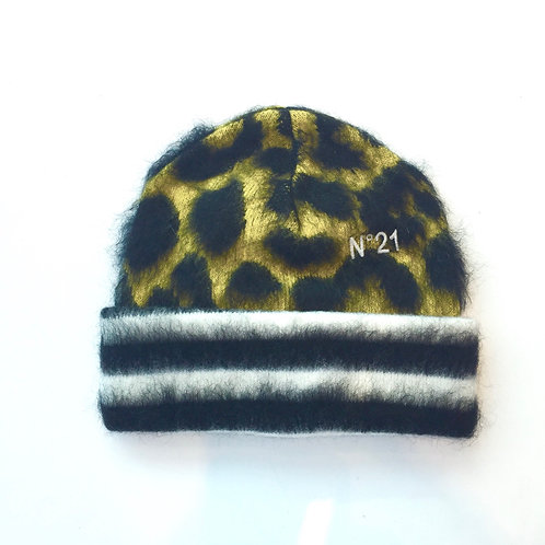 copy of N°21 20IN2M13041 Leopard Beanie yellow