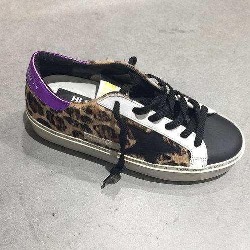 GOLDEN GOOSE G36WS945.L9 Hi Star Sneakers leopard/purple