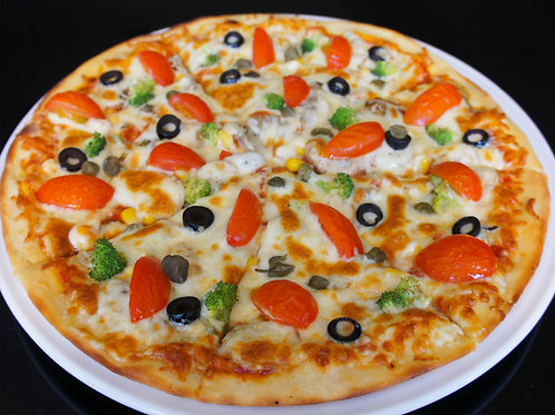 """Пицца """"Вегетарианская"""" на тонком тесте"""