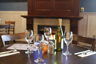 wine and food in the restaurant