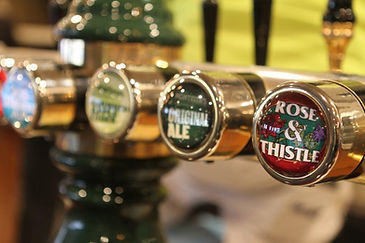 tap beers, montheiths and our own Rose and Thistle brew
