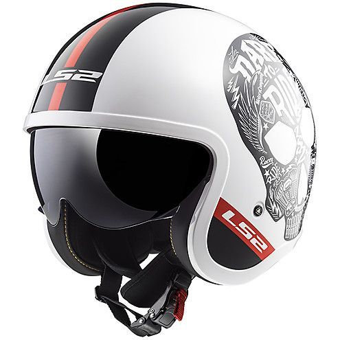 LS2 OF599 Spitfire Openface Helmets Inky White