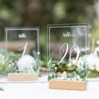 Acrylic Eucalyptus Table Numbers